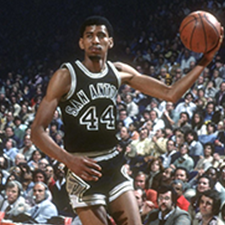George Gervin playing in a game