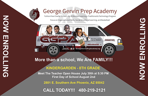 Now Enrolling Flyer linking to Registration page