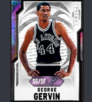 George Gervin, SG/SF player card