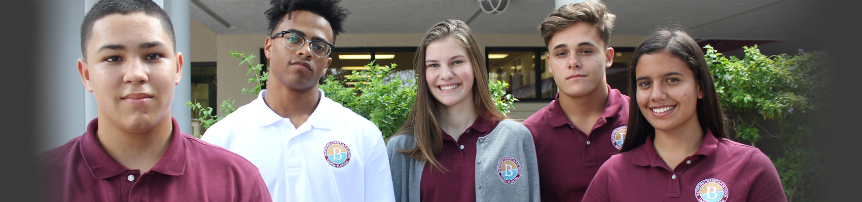 students in Bayshore uniforms