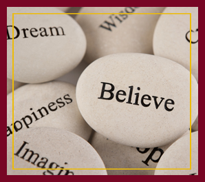 Inspirational word stones