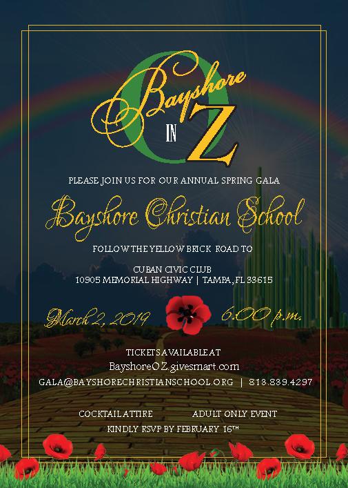 Bayshore Spring Gala 2019 flyer