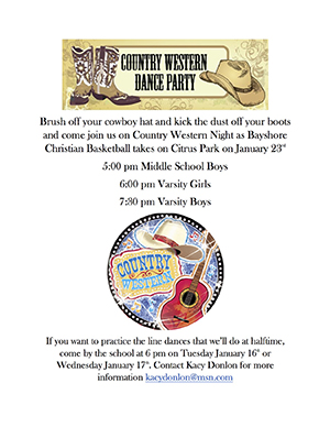 Basketball Country Western Night Flyer