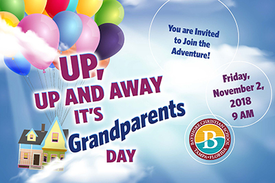 Up, up and away it's grandparents day. Friday November 3, 2018 9:00am