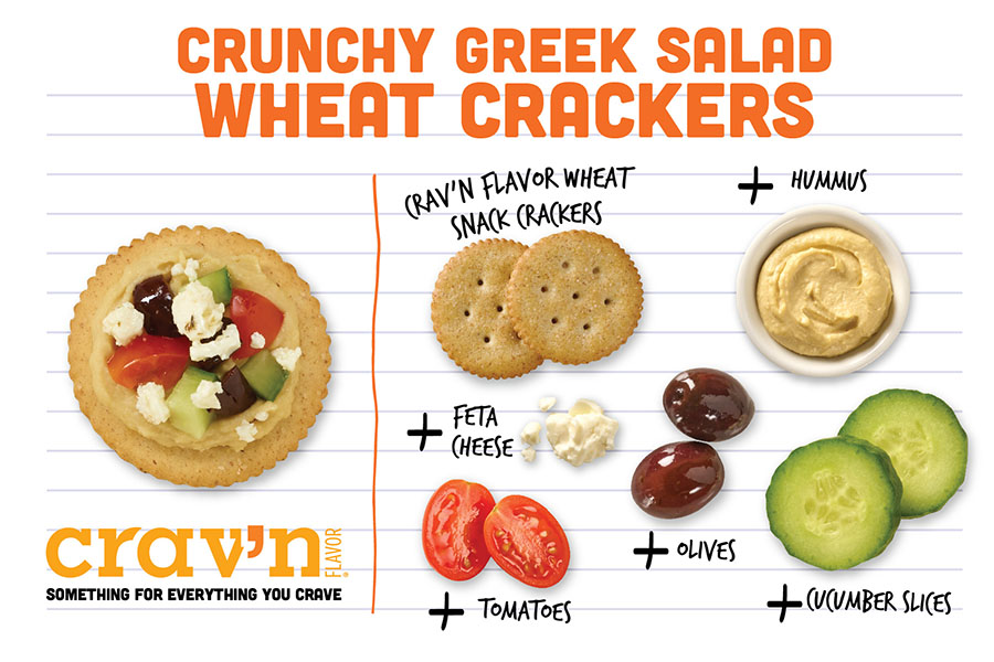 Crunchy Greek Salad Wheat Crackers