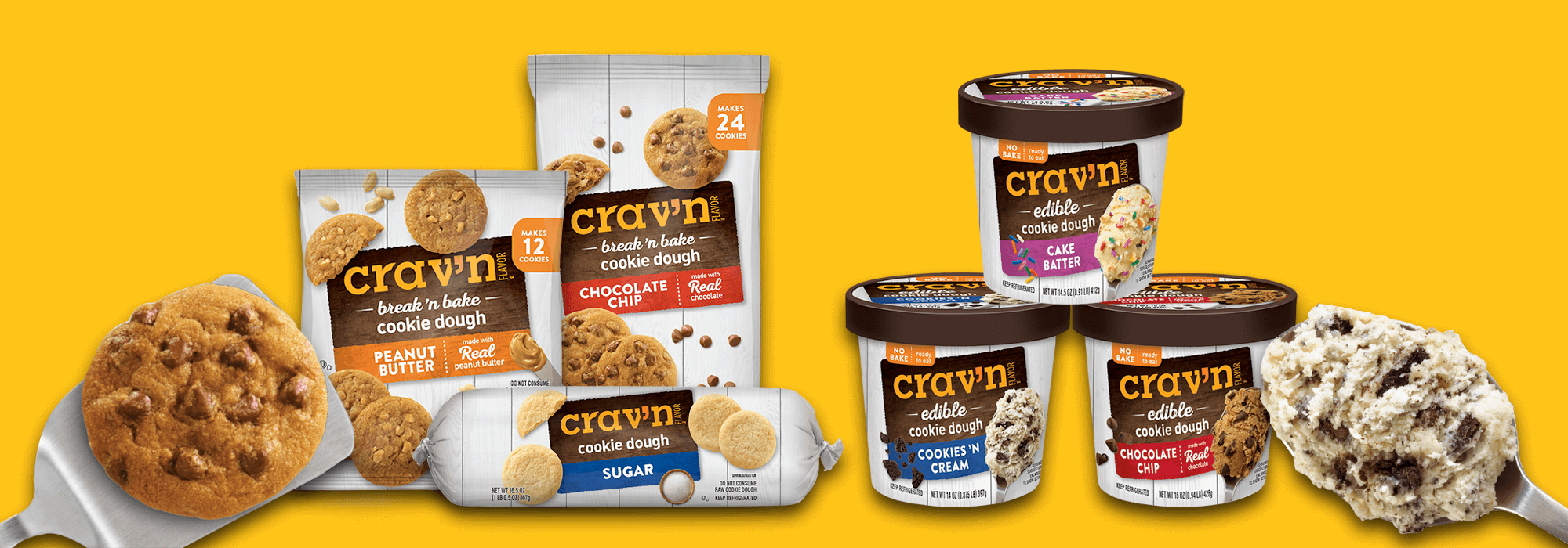 Cookie dough and ice cream