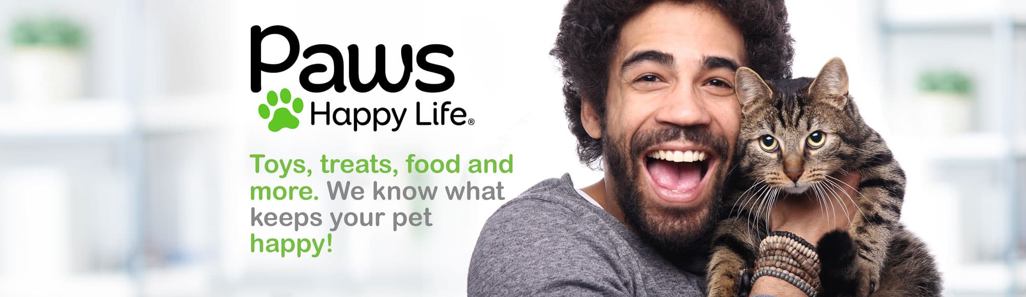 Toys, treats, food and more. We know what keeps your pet happy!