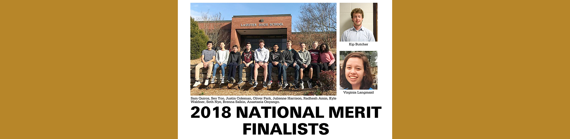 Lassiter High School 2018 National Merit Finalists