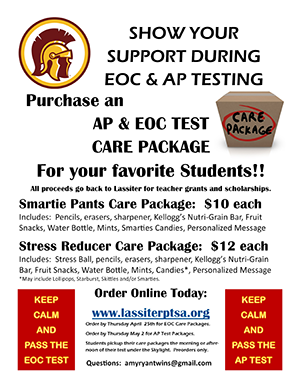 Purchase and AP and EOC test care-package for your favorite students.