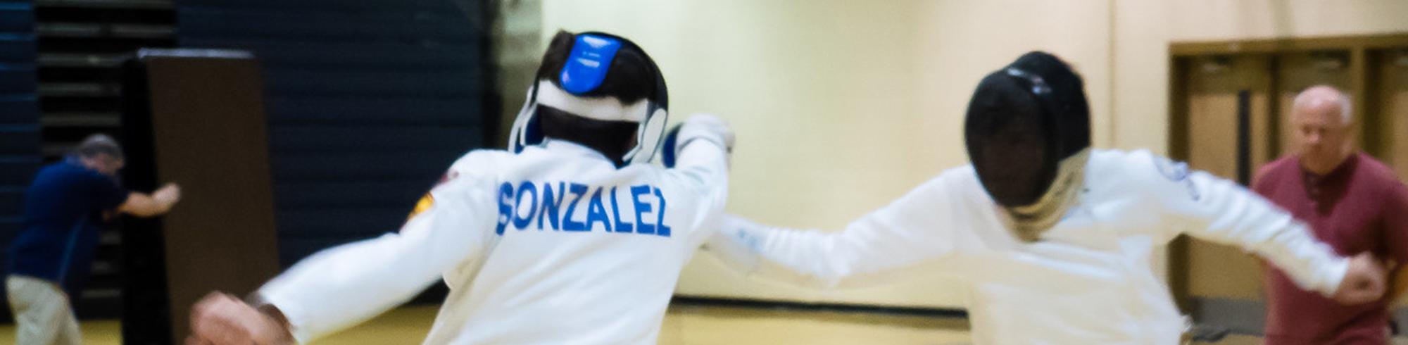 fencing action shot