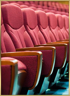 Row of theater seats