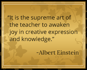 It is the supreme art of the teacher to awaken joy in creative expression and knowledge. - Albert Einstein