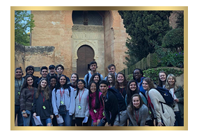 Students at La Alhambra, Spain