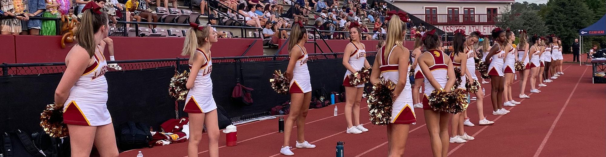 Cheerleaders standing together