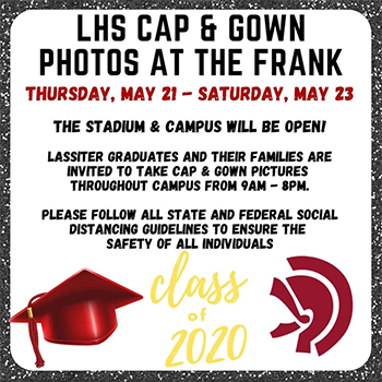 Cap and Gown Photos at the Frank flyer