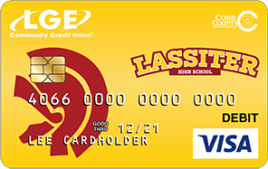 Lassister VISA debit or credit card render