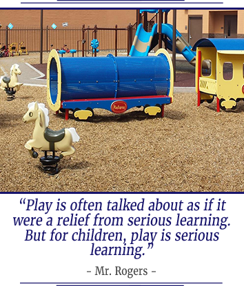 Play is often talked about as if it were a relief from serious learning. But for children, play is serious learning. - Mr. Rogers