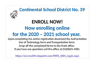 ENROLL NOW flyer