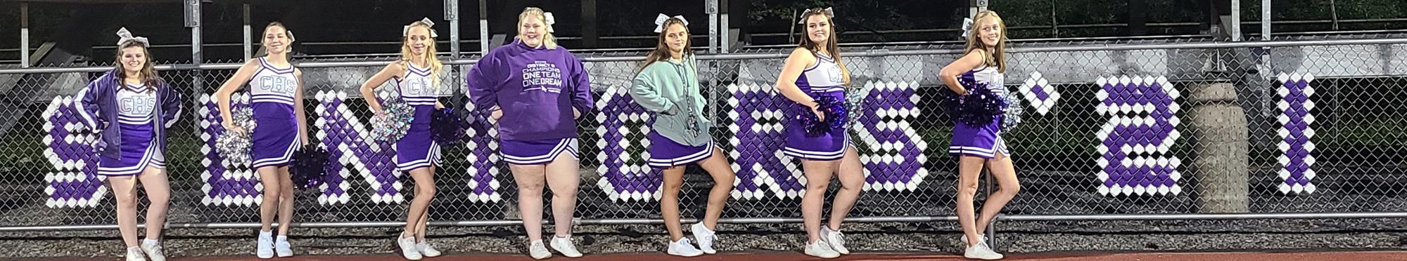 Coudersport senior cheerleaders