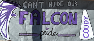 poster that says Can't hide our Falcon pride