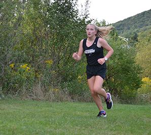 Female cross country runner