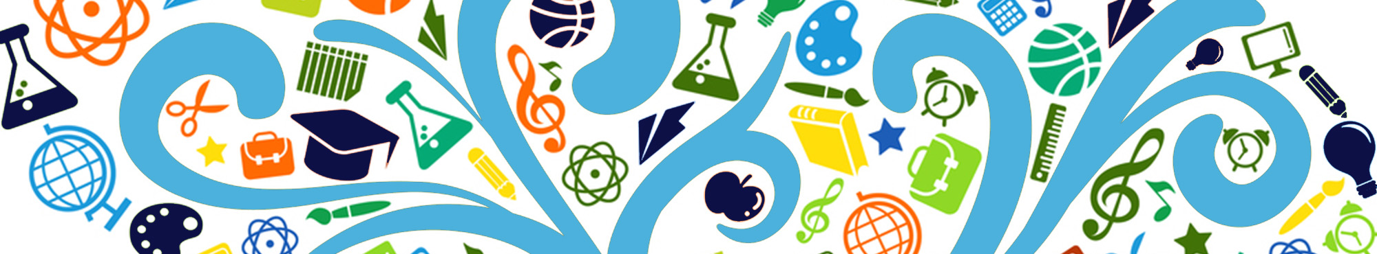 Colorful science and art educational concept
