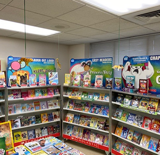 Scholastic Book Fair filled with lots of books