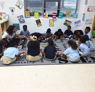 Students learning mindfulness