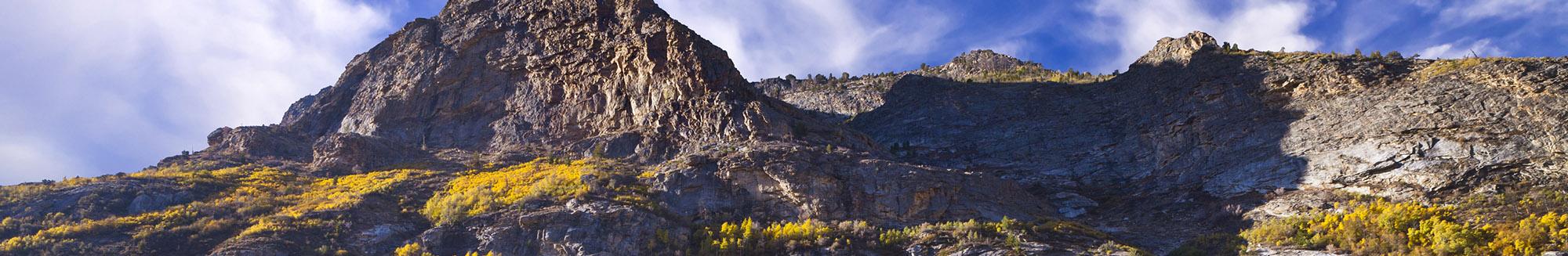 Lamoille Canyon mountains next to Elko County