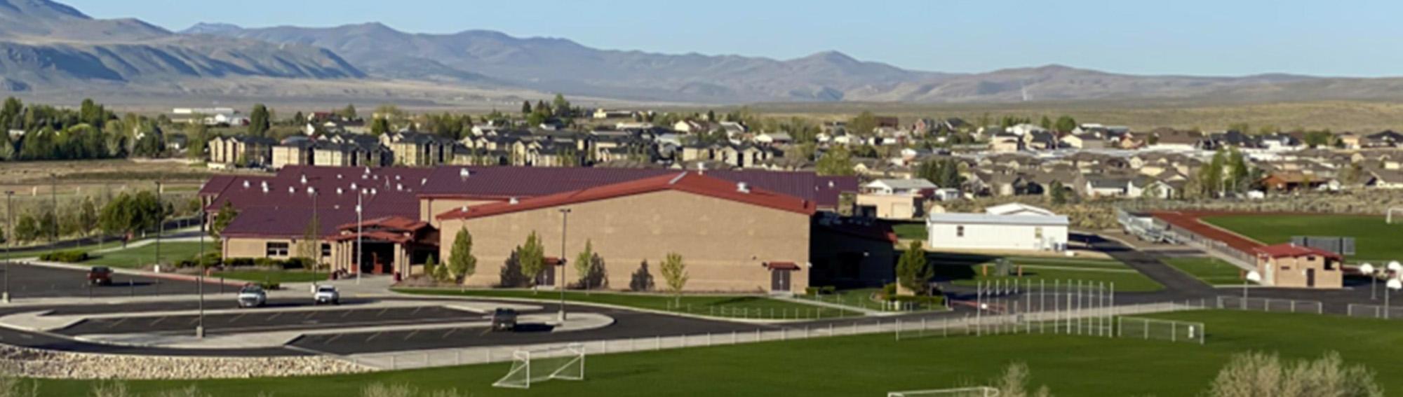 Adobe Middle School campus aerial photo