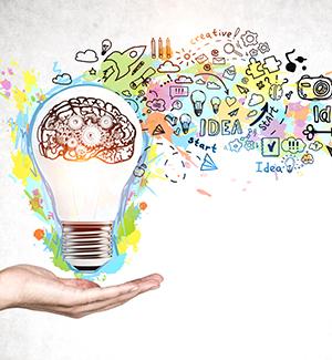 Educational idea with lightbulb concept