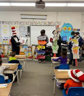 Read Across America themed classroom