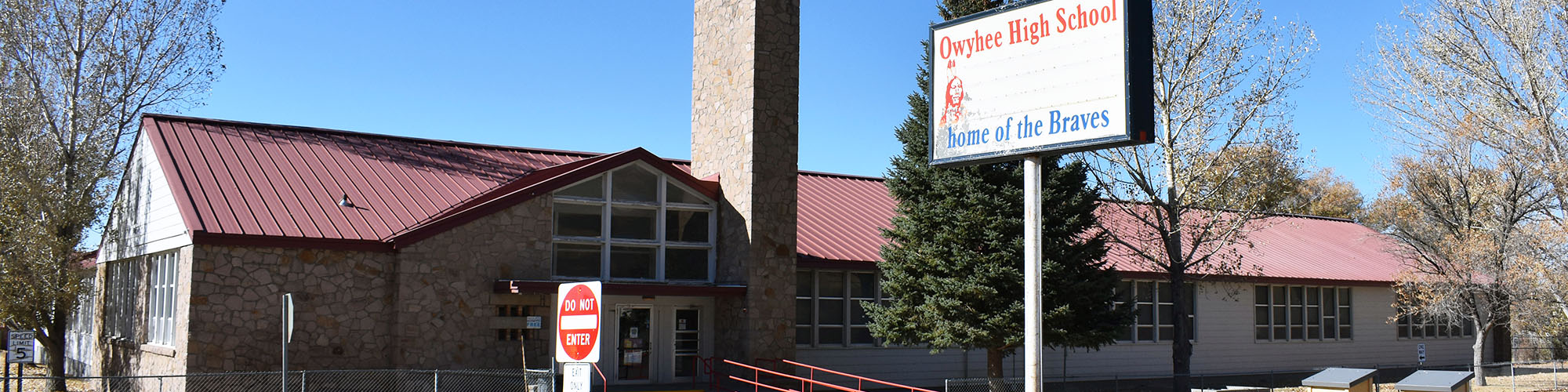 Front view of Owyhee School