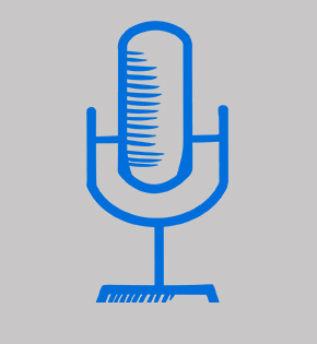 Drawing of a microphone for daily announcements