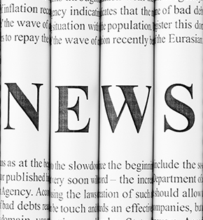 Newspaper background with News printed on top