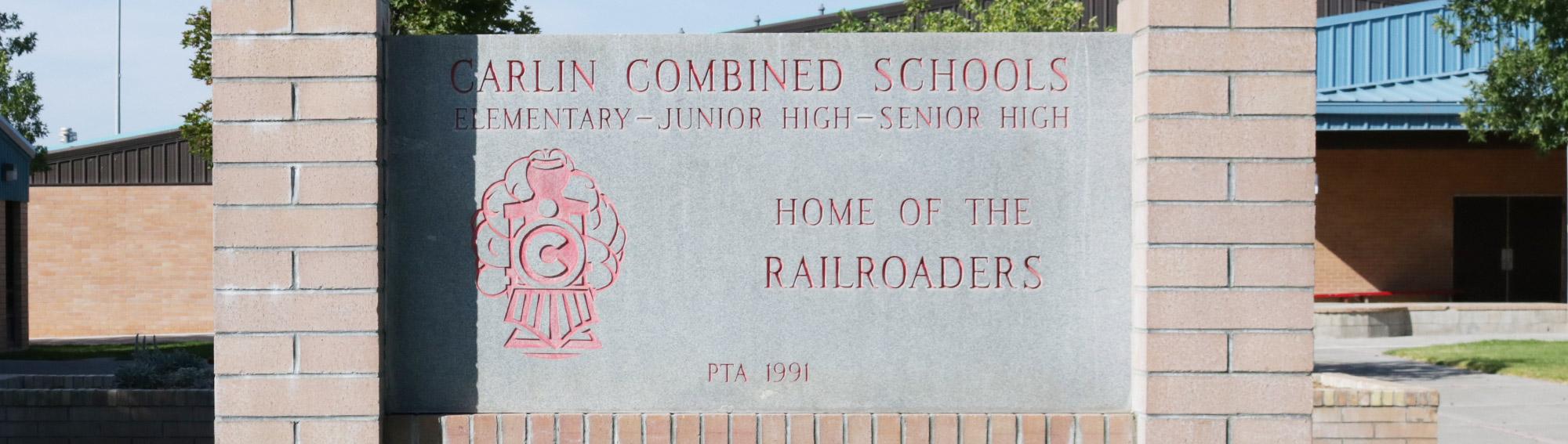 Carlin school sign
