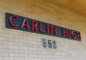 Carlin High school sign