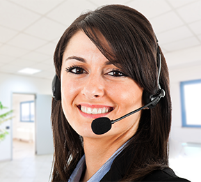 lady with headset on