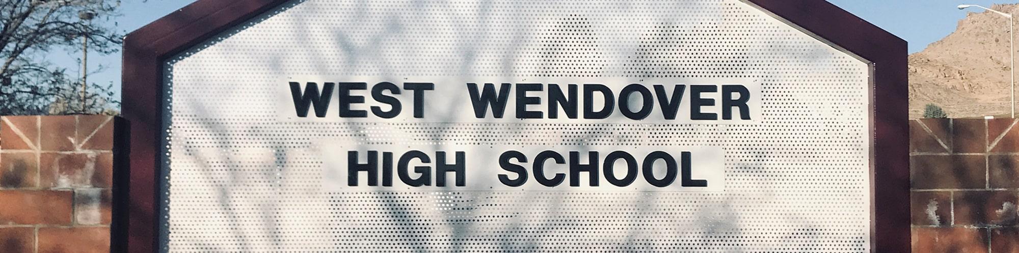 West Wendover High School sign