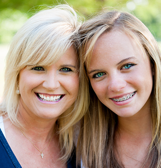 mother and teenage daughter