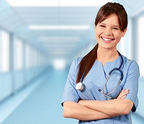 smiling female nurse