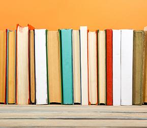books turned backward