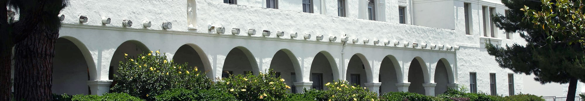Side view of Nazarath School highlighting the arches