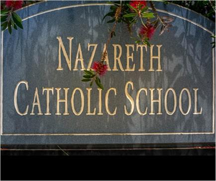 Nazareth Catholic School sign