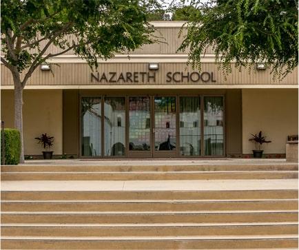 front doors of Nazareth School