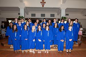 Eighth grade graduation group photo