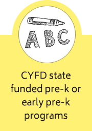 CYFD state funded pre-k or early pre-k programs