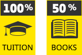 100% Tuition, 50% Books