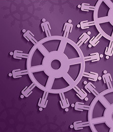 Sprockets with person icons across them