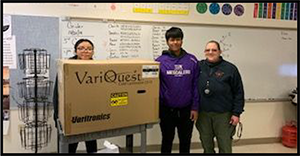 Mescalero HS students receive GenYES equipment to create school posters